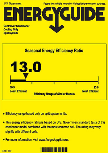 ac seer rating chart