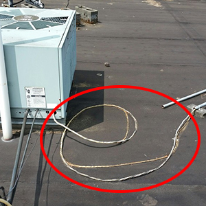 High Voltage Wires Exposed on Roof
