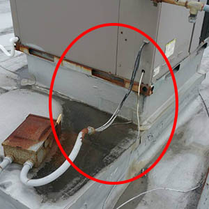 Exposed High Voltage Wires