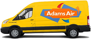 Adams Air Conditioning Service Van